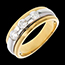 buy The Eclipse - Three stone Trilogy - yellow gold-white gold - 0.59 carat - 3diamonds