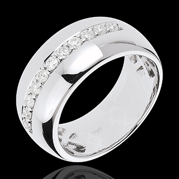 gold jewelry Ring Enchantment - Moon Radiance - white gold - 11 diamonds: 0.37 carats