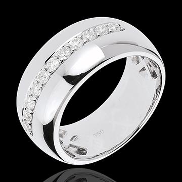 Hochzeit Ring Zauberwelt - Mondsplitter - Weißgold - 11 Diamanten: 0.37 Karat