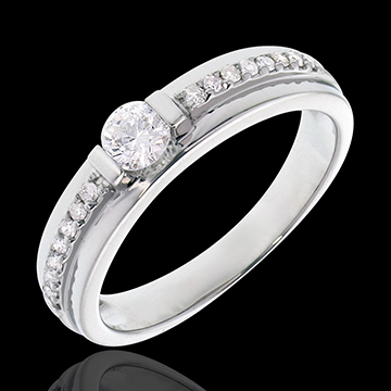 gifts woman Engagement Ring Solitaire Destiny - Eugenie - 0.22 carat diamond