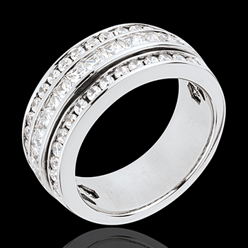 wedding Ring Enchantment - Milky Way - white gold paved - 1.46 carat - 43 diamonds