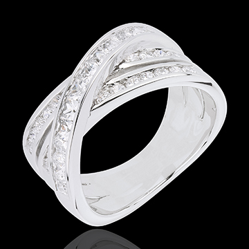 gifts woman Ring Great Saturn - white gold - 1.37 carat
