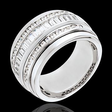 Geschenke Frauen Ring Sternbilder - Milchstraße - 1.58 Karat - 48 Diamanten