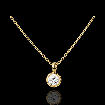 gifts woman Yellow Gold Doll Solitaire Necklace