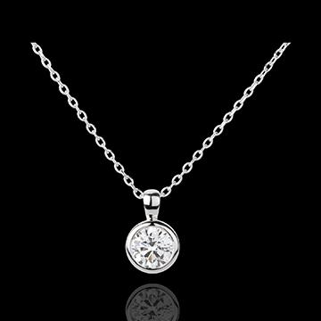 Juwelier Solitär-Collier Puppe in Weissgold - 1 Diamant : 0.75 Karat