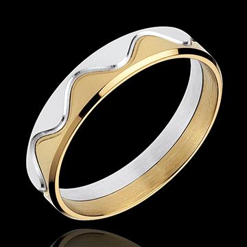 Online Verkauf Ring Krone in Gelbgold und Weissgold