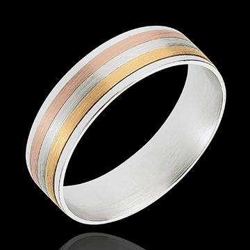 Geschenke Frau Ring Bänder aus drei Goldtönen