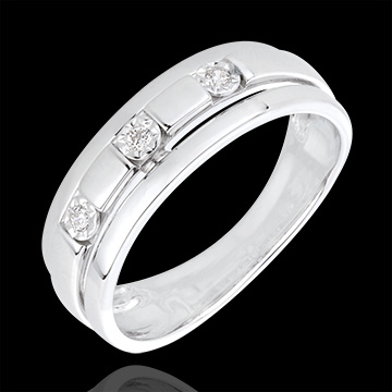 gifts women White Gold and Diamond Bysantium Trilogy Ring