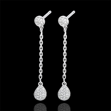 buy on line White Gold and Diamond Rhea Earrings