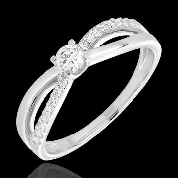 cadeau femmes Bague de Fiançailles Destinée - Eternité - diamant 0.14 carat - 18 carats