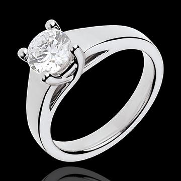 Geschenke Frauen Ring nach Maß 30093 - Solitär Ring in Weissgold - 1 Karat