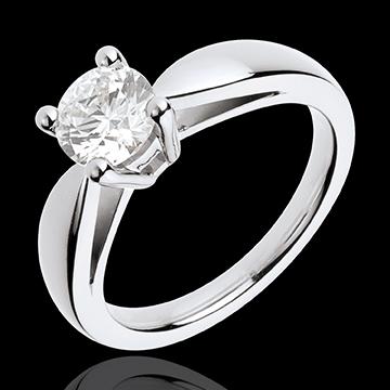 Juweliere Ring nach Maß 30096 - Solitär Ring in Weissgold - 1 Karat