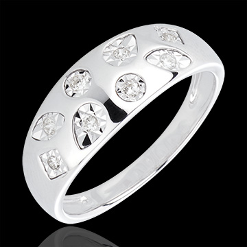 gift women AP1568 - White Gold and Diamond Tutti Frutti Ring