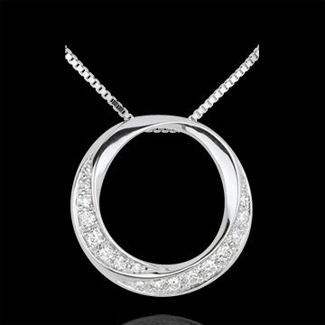 achat on line Collier Lady or blanc 18 carats et diamants