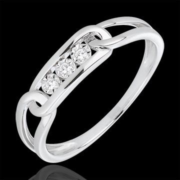 cadeaux femme Bague Force Diamants or blanc