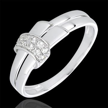 Goldschmuck Diamantring Desira in Weißgold