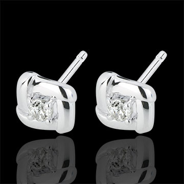 jewelry White Gold Nests Stud Earrings