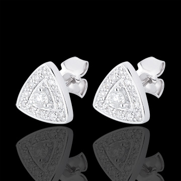 gift woman AP1510 - White Gold and Diamond Premier Earrings