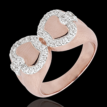 mariage Bague Fraicheur - Pomme d'amour - or blanc et or rose 18 carats