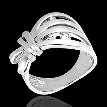 gifts women Ring Imaginary walk - Camouflage - white gold