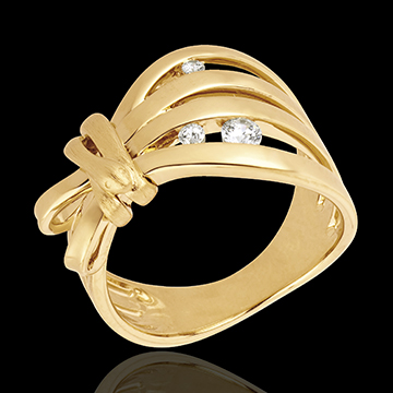 gifts women Ring Imaginary Walk - Camouflage - yellow gold
