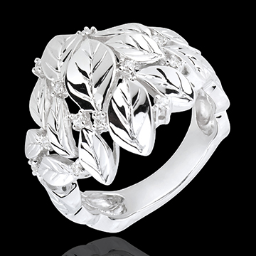 jewelry Ring Enchanted Garden - Precious Dew white gold
