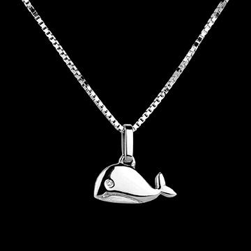 cadeaux Baleineau - grand modèle - or blanc