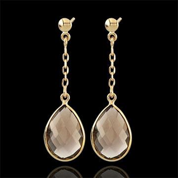 present Narcissus Smoky Quartz Earrings