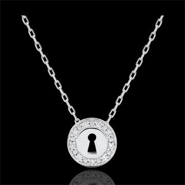 Geschenk Frauen Collier Kostbares Geheimnis - Weißgold und Diamanten
