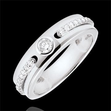 Geschenke Solitärring Versprechen - Weißgold und Diamanten