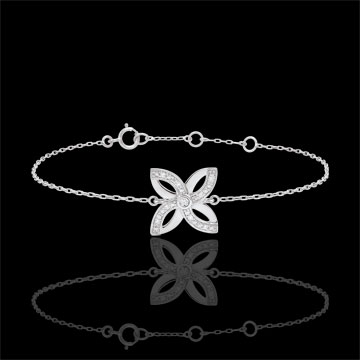 gold jewelry Freshness Bracelet - Lilies of summer - white gold