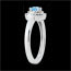 sell on line Double Halo Engagement Ring - 0.3 carat topaz and diamonds - white gold 18 carats