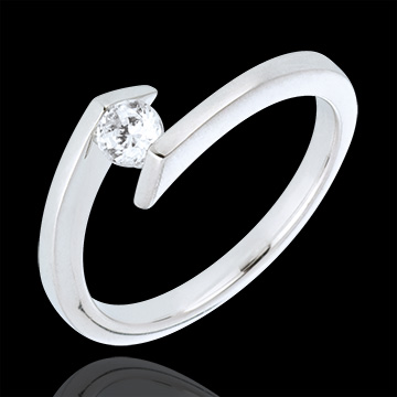 buy Solitaire Ring Princess Star - White gold