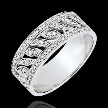 Juwelier Ring Schicksal - Théodora - 52 Diamanten - Weißgold 9 Karat