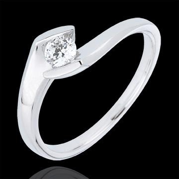 kaufen Solitär Ring Kostbarer Kokon - Sommerabend - Weißgold - 0. 22 Karat -9 Karat