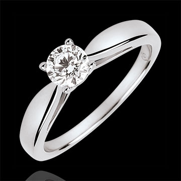 present Reed Solitire - 0.4 carat diamond - white gold 18 carats