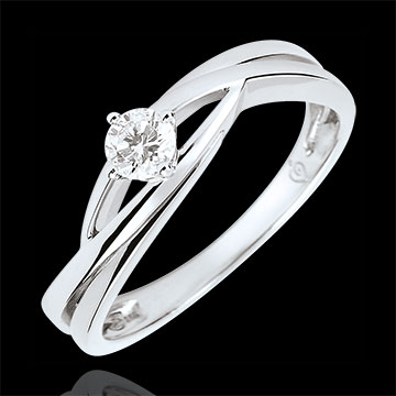 gift woman Precious Nest Solitaire - Dova - 0.15 carat diamond - white gold 9 carats