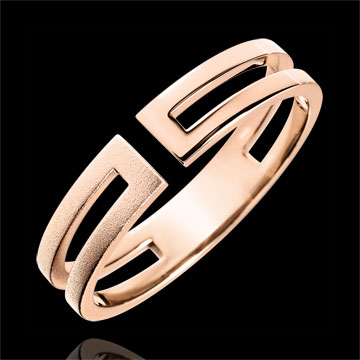 on line sell Gloria Ring - 9 carat brushed pink gold