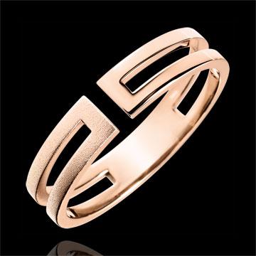 Juwelier Ring Gloria - gebürstetes Roségold 9 Karat
