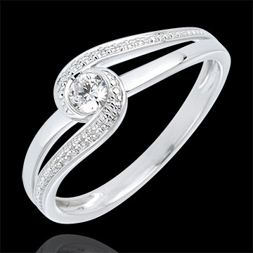 jewelry Engagement Ring Solitaire Precious Nest - Preciosa - white gold - 0.12 carat - 18 carats