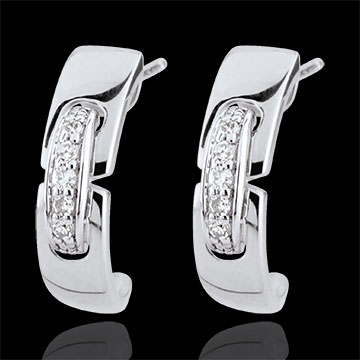 sell White Gold Eternal Union Earrings
