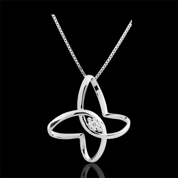 weddings Imaginary walk Necklace - Butterfly Ribbon - 9 carats