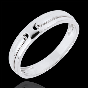 gifts Promise Wedding Ring - all gold - White gold - 9 carats