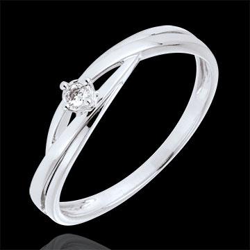 on line sell Solitaire Precious Nest - Dova - white gold - 0.03 carat diamond - 9 carats