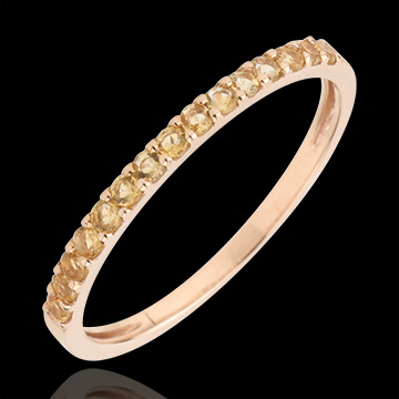 buy on line Ring Bird of Paradise - one line - rose gold and yellow citrine