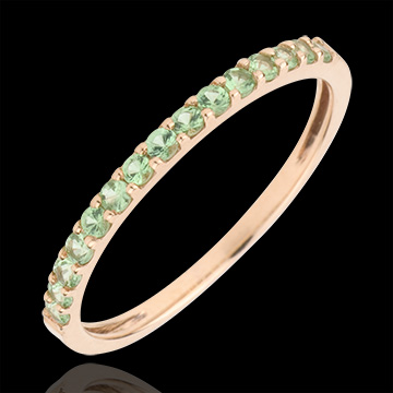 on line sell Ring Bird of Paradise - one line - rose gold and tsavorite