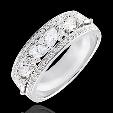 achat on line Bague Destinée - Byzantine - or blanc et diamants - 18 carats