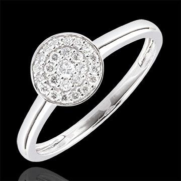 gioiello Anello Costellazione - Oro Bianco - 18 carati - 25 Diamanti - 0.16 Carati