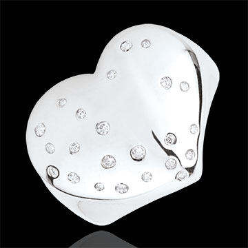 gift Starry Heart Ring - Silver and diamonds