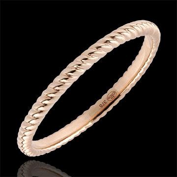 Geschenke Ring Goldenes Seil - Rotgold
